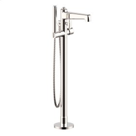 Single Supply Floor Tub-Filler Wallace (series 15) Polished Nickel