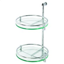 Essentials Two Tier Wall Mounted Glass Swivel Shelf Unit