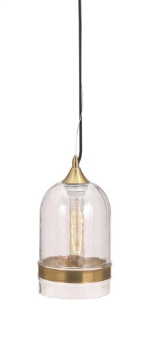 Freya Clear Cylinder Pendant Light