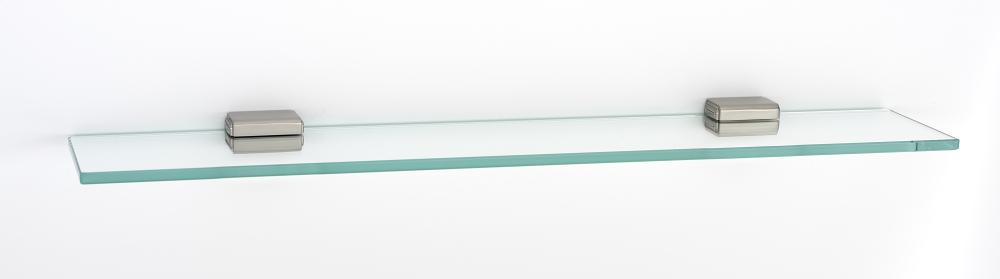 Cube Glass Shelf A6550-24 - Satin Nickel