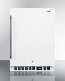 Frost-free All-freezer for Built-in or Freestanding Use In White Finish, With Digital Thermostat, LED Lighting, and Lock