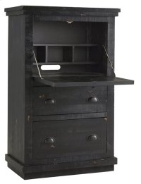 Armoire Desk - Distressed Black Finish Product Image