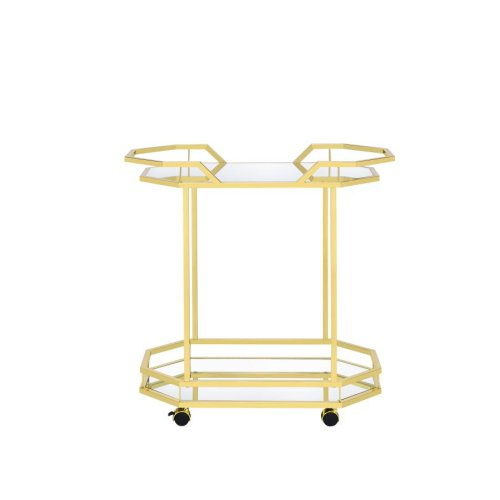 Traditional Brass Serving Cart