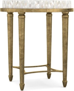 Aura Round Accent Table w/ Shell Top