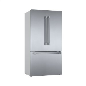 Bosch800 Series French Door Bottom Mount Refrigerator Easy clean stainless steel B36CT81SNS