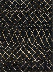 GRAFIX GRF04 BLACK RECTANGLE RUG 5'3'' x 7'3''