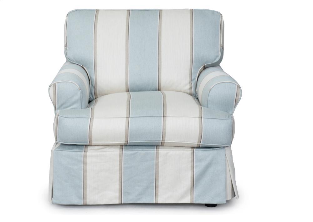 Additional Sunset Trading Horizon Slipcovered Swivel Chair In Linen