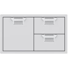 "Double Drawer and Storage Door Combination, 36"""