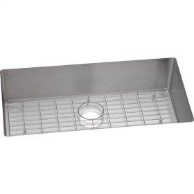 """Elkay Crosstown Stainless Steel 33"""" x 22"""" x 9"""", Single Bowl Dual Mount Sink Kit"""