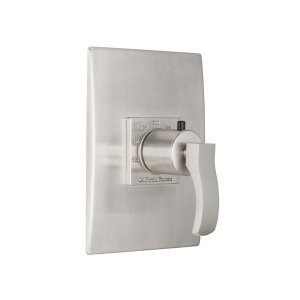 "Avila Styletherm (R) 3/4"" Convex Thermostatic Trim Only - Polished Nickel"