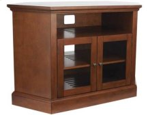 "Audio Video Stand Corner unit - fits AV components and TVs up to 52"" - Chestnut"