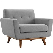 Engage Upholstered Fabric Armchair in Expectation Gray
