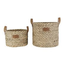 Water Hyacinth & Seagrass Clarence Baskets