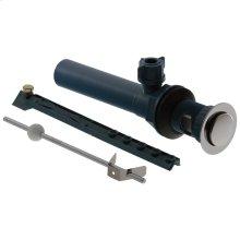 Chrome Drain Assembly- Plastic Pop-Up - Less Lift Rod - Lavatory