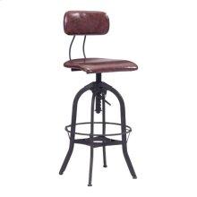 Gering Bar Chair Burgundy & Antique Black