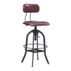 Gering Bar Chair Burgundy & Antique Black Product Image
