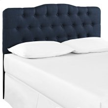 Annabel Full Upholstered Fabric Headboard in Navy