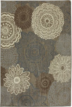 Mossat Brown Rectangle 5ft 3in X 7ft 10in