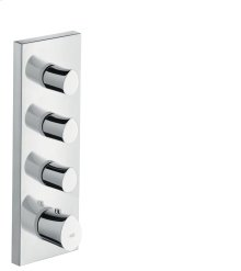 Chrome Thermostatic module 360/120 for concealed installation