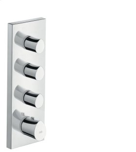 Polished Chrome Thermostatic module 360/120 for concealed installation