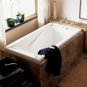 Evolution 60x32 inch Deep Soak Bathtub - Linen