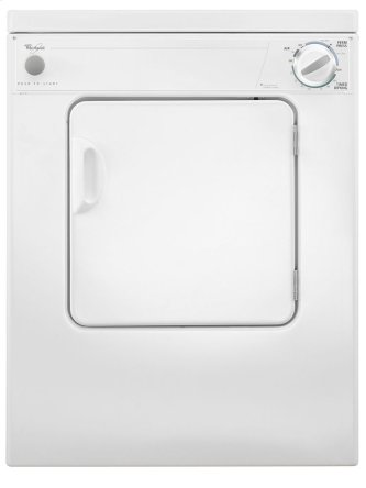 Whirlpool(R) 3.4 cu.ft. Compact Electric Dryer with AccuDry Drying System