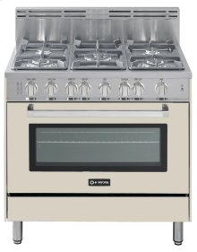 "Antique White (Bisque) 36"" Gas Range with Single Oven"