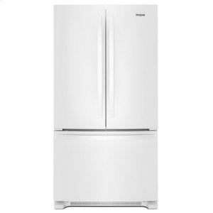 36-inch Wide French Door Refrigerator with Crisper Drawer - 25 cu. ft. - WHITE