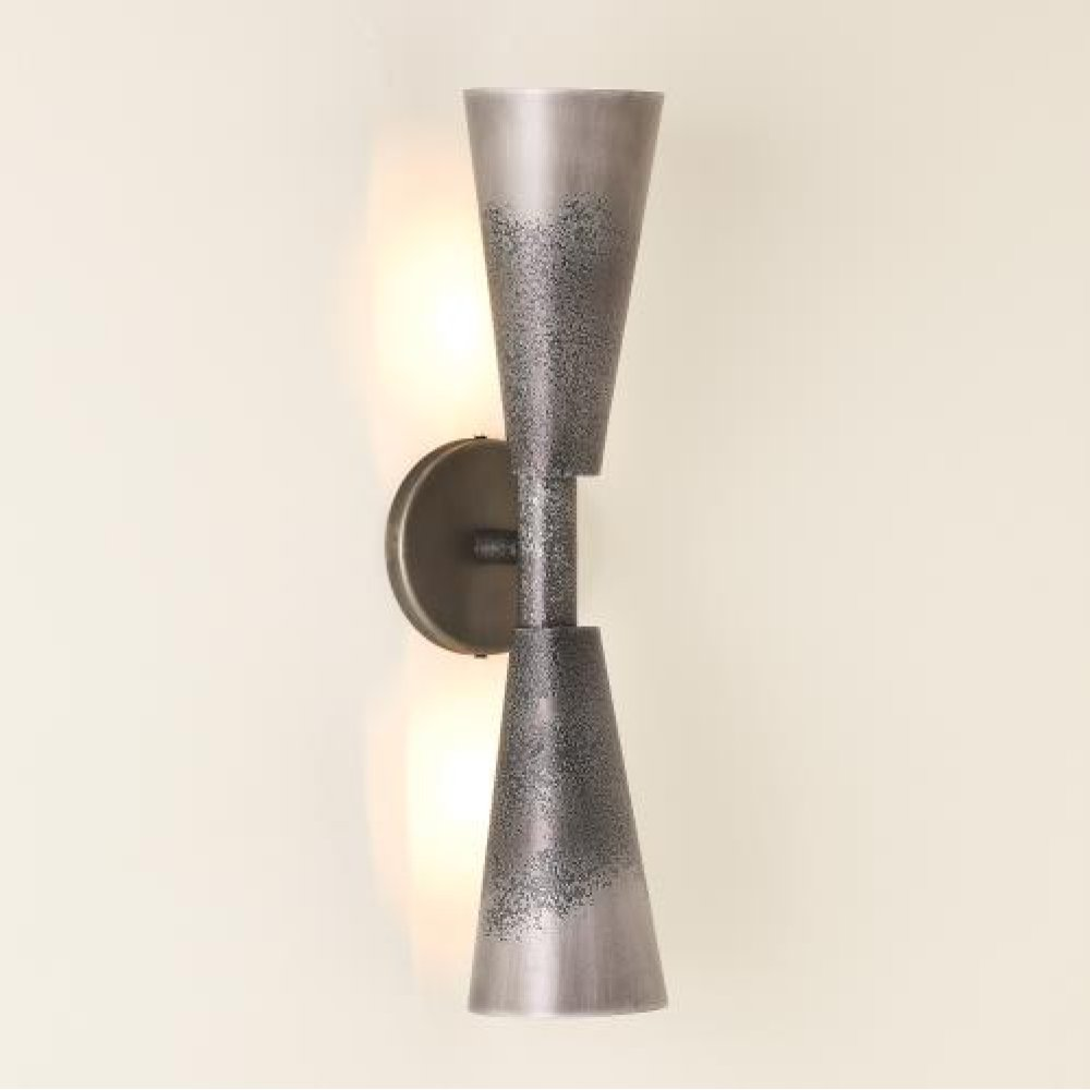 Ombre Trumpet Sconce-Graphite/Pewter-HW