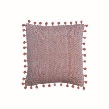 18X18 Hand Woven Lane Pillow Rust