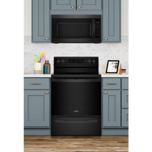 Whirlpool® 5.3 cu. ft. Freestanding Electric Range with Adjustable Self-Cleaning - Black