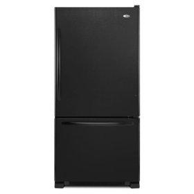 22 cu. ft. Bottom-Freezer Refrigerator with Large Capacity - black