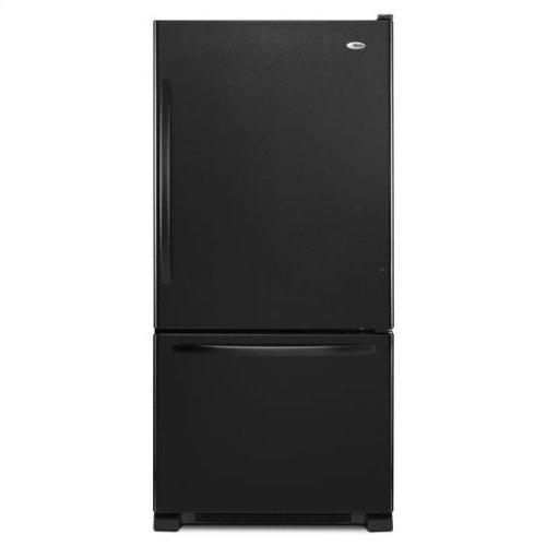 22 cu. ft. Bottom-Freezer Refrigerator with Large Capacity - black