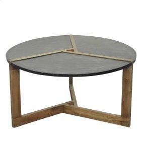Oslo Metal Plate Coffee Table Natural Gray Base, Rustic Gray