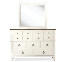 Myra Shadowbox Mirror Paperwhite finish