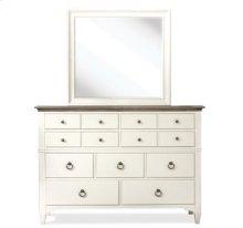 Myra Nine Drawer Dresser Natural/Paperwhite finish