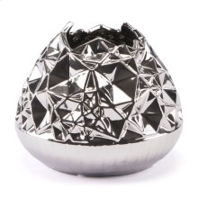Line Vase Md Silver