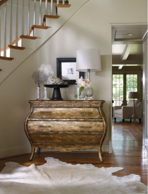 Sanctuary Three-Drawer Bombe Nightstand - Bling