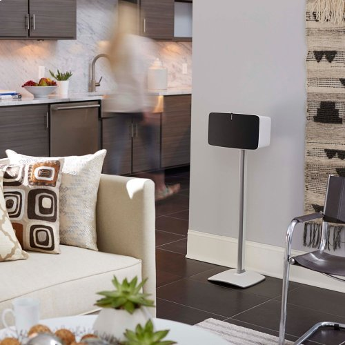 White Wireless Speaker Stands designed for Sonos Play:5