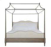 King-Sized Auberge Poster Bed with Metal Canopy in Auberge Weathered Oak (351)