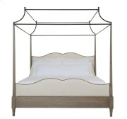 King-Sized Auberge Poster Bed with Metal Canopy in Auberge Weathered Oak (351) Product Image