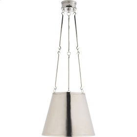 Visual Comfort AH5210PN Alexa Hampton Lily 3 Light 15 inch Polished Nickel Hanging Shade Ceiling Light