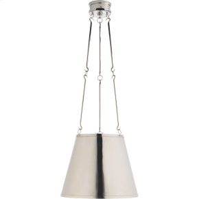 Visual Comfort AH5210PN Alexa Hampton Lily 3 Light 15 inch Polished Nickel Hanging Shade Ceiling Light