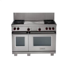 """48"""" Dual Fuel Range wtih 4 Burners adn Infrared Griddle and Charbroiler"""