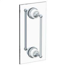"""Venetian 18"""" Double Shower Door Pull/ Glass Mount Towel Bar"""