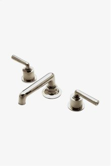 Henry Low Profile Three Hole Deck Mounted Lavatory Faucet with Metal Lever Handles STYLE: HNLS10