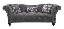 Emerald Home Hutton II Sofa Nailhead W/2 Pillows & 1 Kidney Pillow Thunder Bella U3164-00-13