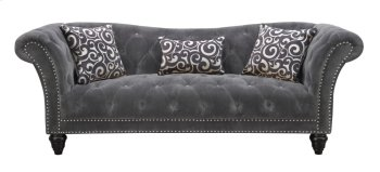 Emerald Home Hutton II Sofa Nailhead W/2 Pillows & 1 Kidney Pillow Thunder Bella U3164-00-13 Product Image