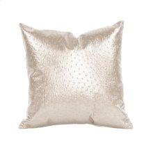 """16"""" x 16"""" Pillow Ostrich Pearl"""