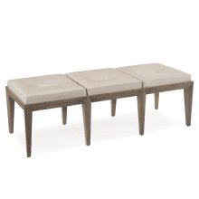 Luxe Bench with Textured Leather